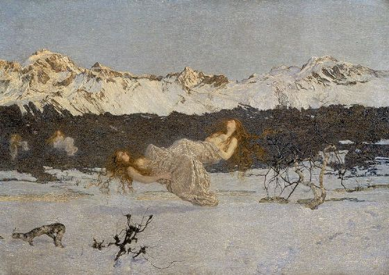 Segantini, Giovanni: The Punishment of Lust. Fine Art Print/Poster. Sizes: A4/A3/A2/A1 (002232)